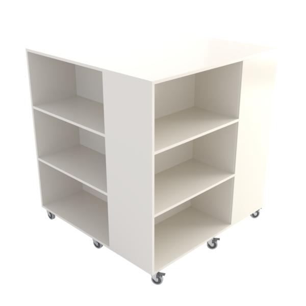 Rubix Book Browser Maxi: White