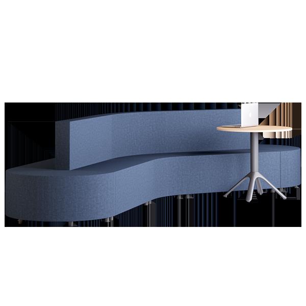 Habitat Boomerang Modular Lounge: Abyss