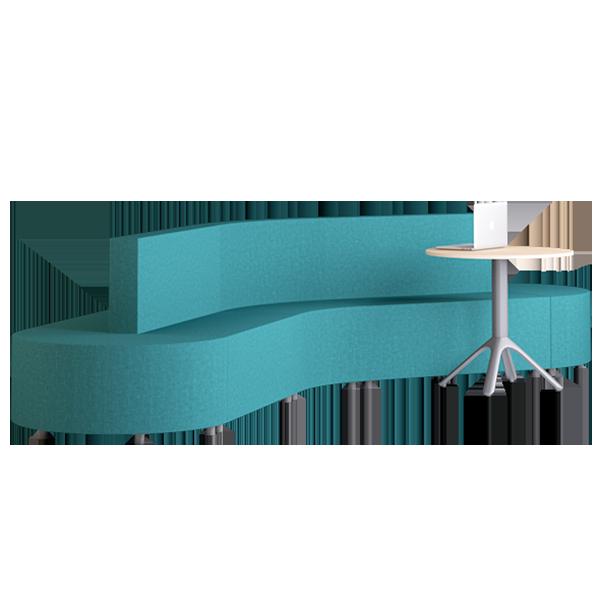 Habitat Boomerang Modular Lounge: Oasis