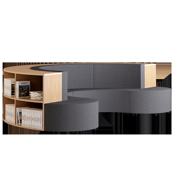 Habitat D1 Modular Lounge: Slate
