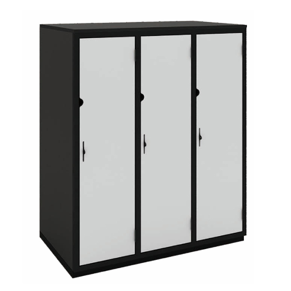 Secure it Three Qtr Height: Triple Bay: One Door