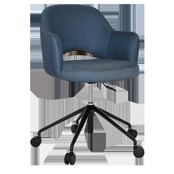 Aspen Lounge Chair: Castors