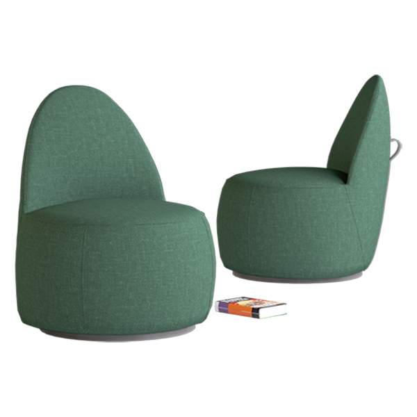 Mako Lounge Chair: Forest