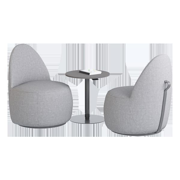 Mako Lounge Chair: Mushroom
