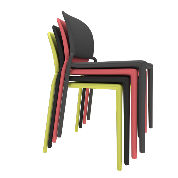 Oska Chair: Stacked