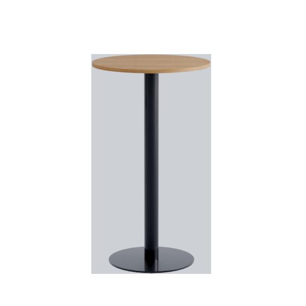 Porto High Table: Nat oak on Black