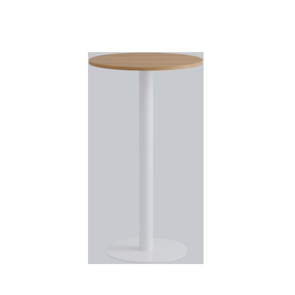 Porto High Table: Nat Oak on White