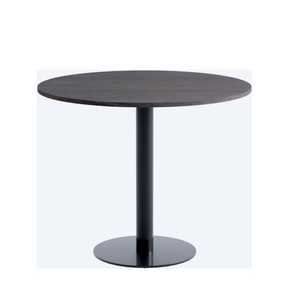 Porto Low Table: Dark Oak on Black