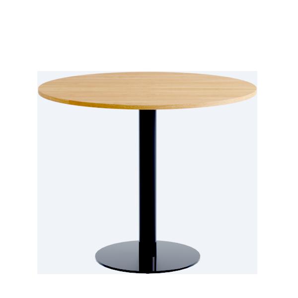 Porto Low Table: Nat Oak on Black