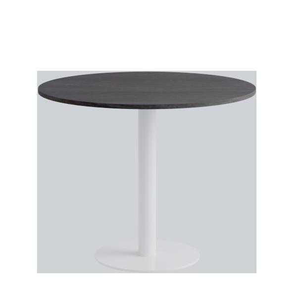 Porto Low Table: Dark Oak on White