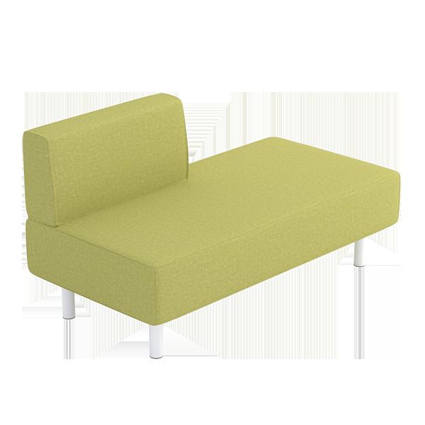 Origami Left Sofa Modular Lounge: Moss
