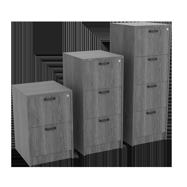 Planke Filing Cabinet: Dark Oak