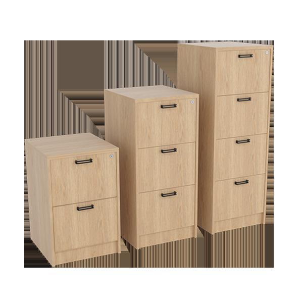 Planke Filing Cabinet: Natural Oak