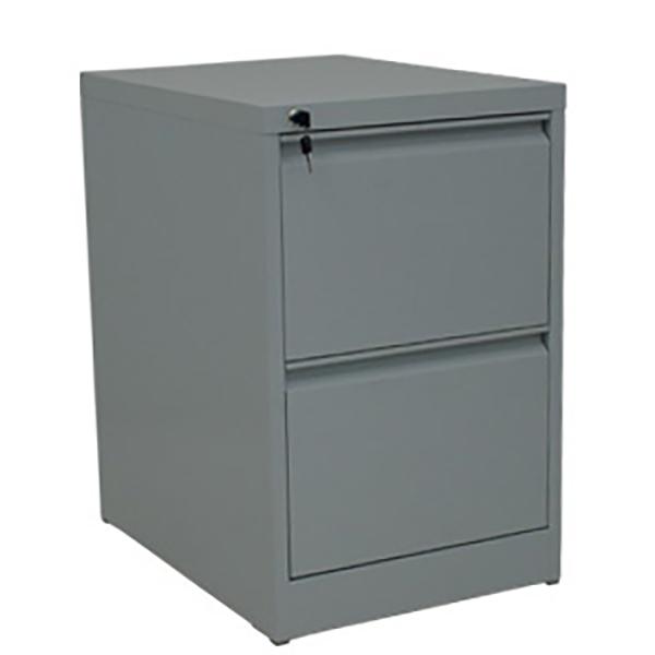 Ergo Steel Filing Cabinet: 2 drawer